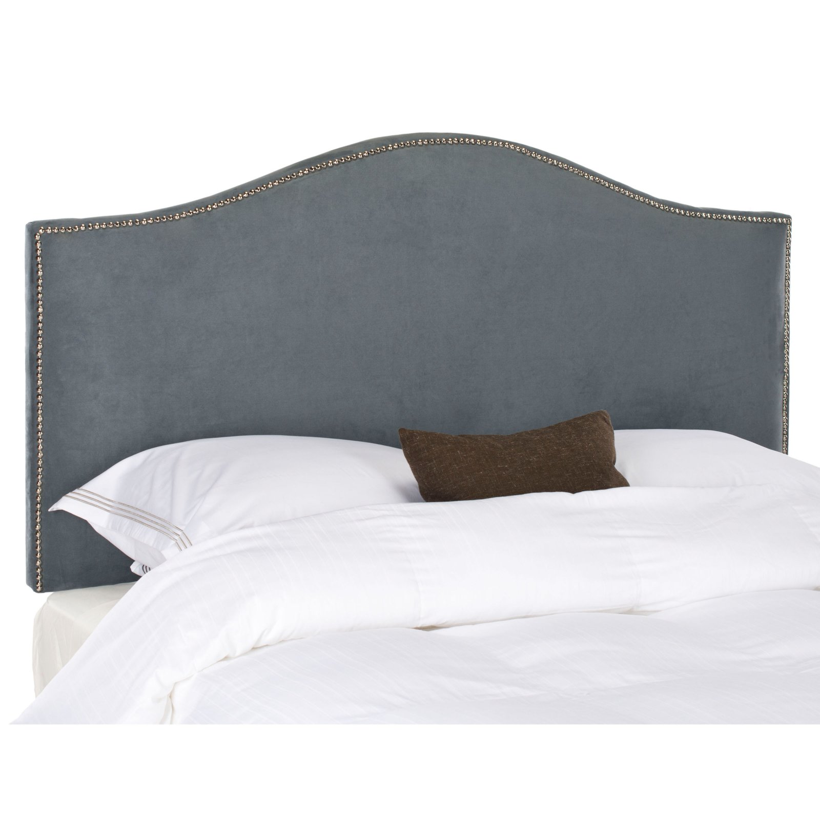 Safavieh Connie Upholstered Headboard With Nailhead Trim