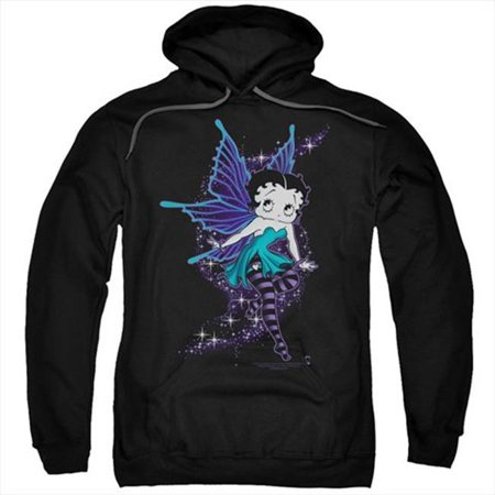 Boop-Sparkle Fairy - Adult Pull-Over Hoodie, Black - 3X