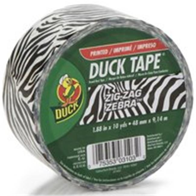 Shurtech Brands 280110 1.88 In. x 10 Yards. Zebra Duck Tape
