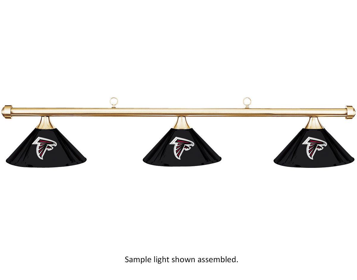 NFL Atlanta Falcons Black Metal Shade & Brass Bar Billiard Pool Table Light by Imperial International