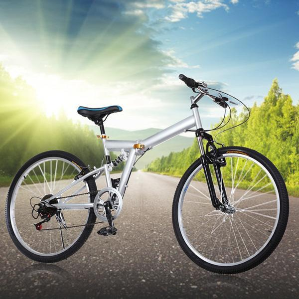 "26"" Mountain  Bike 6 Speed Folding Bicycle Cycling V Brak..."
