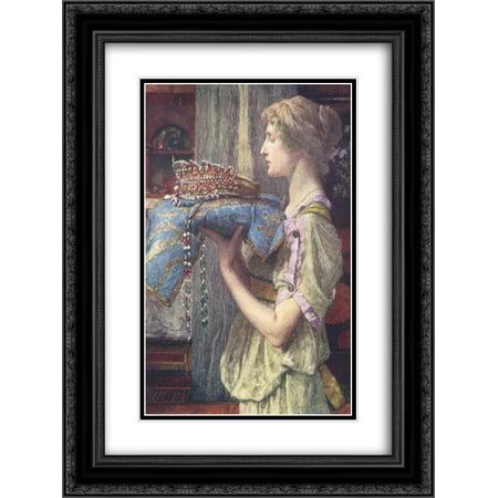 Sir Lawrence Alma Tadema 2x Matted 20x24 Black Ornate Framed Art Print 'A Crown'