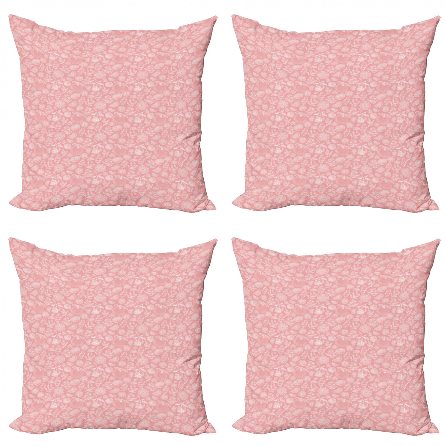 Tropical Throw Pillow Cushion Case Pack Of 4, Monochrome