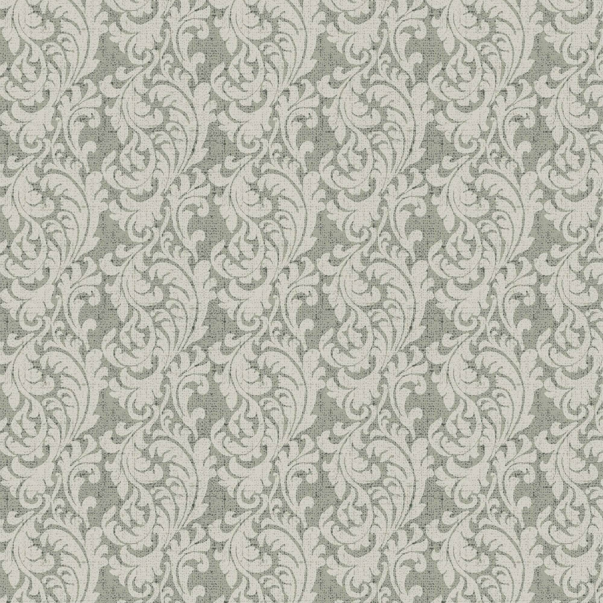 Waverly Inspirations PAIS SCRL GRAY 100% Cotton duck fabric, Quilting fabric, Home Decor ,54'', 220GSM