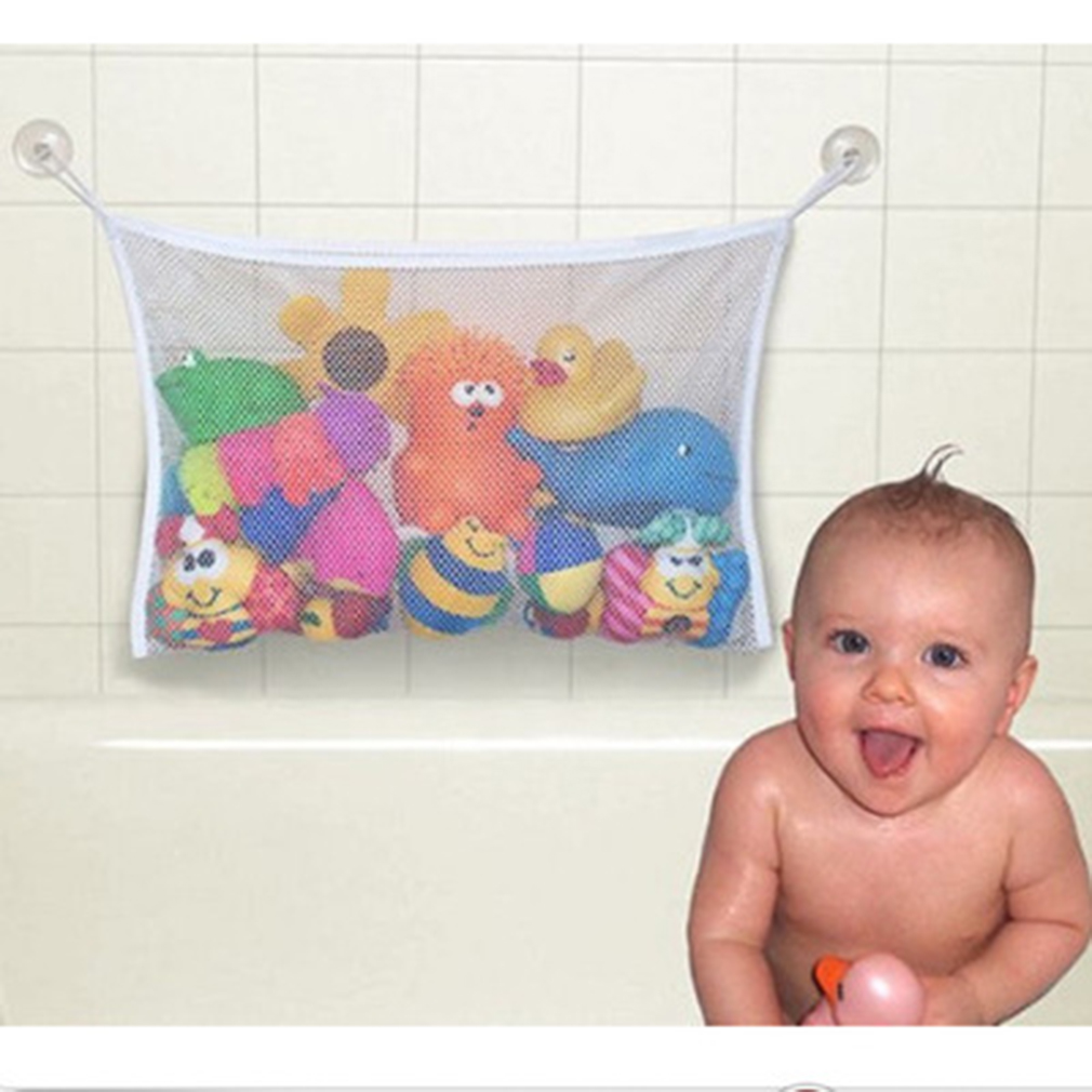 45*35cm Useful Durable Toy Net Mesh Bag Baby Kid Children Bath Toys Pouch Storage by