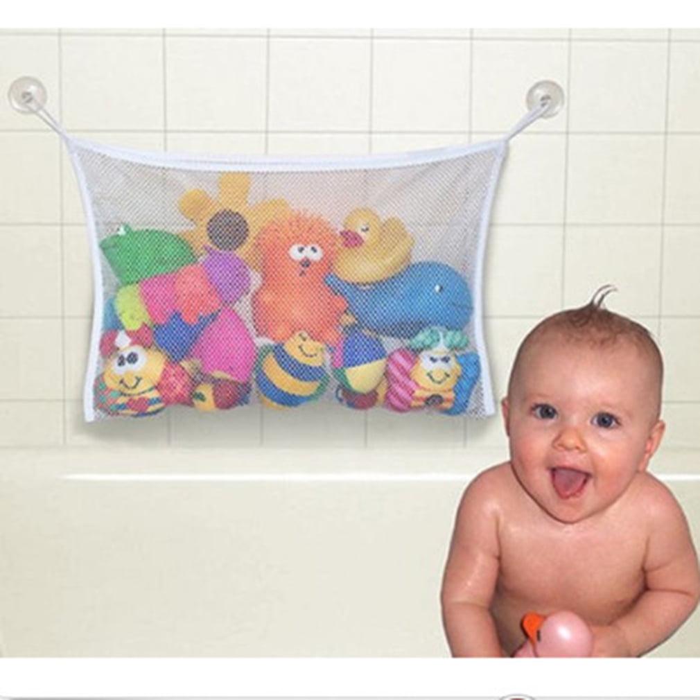 2 PCS 45*35cm Useful Durable Toy Net Mesh Bag Baby Kid Children Bath Toys Pouch Storage by