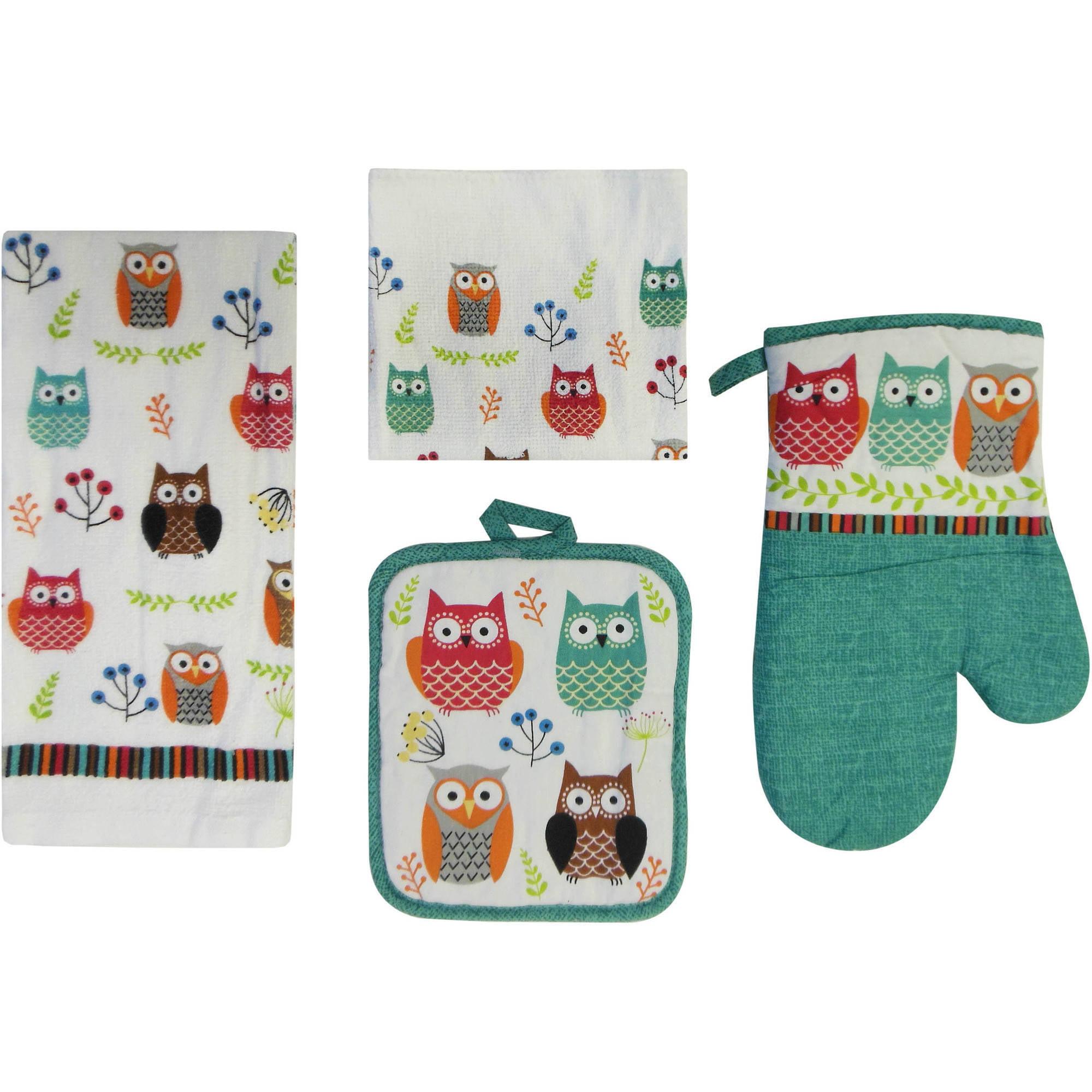 Mainstays Owl 7-Piece Kitchen Set