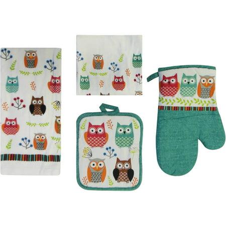 Mainstays  Piece Kitchen Set Owl