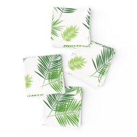 Cocktail Napkins Palm Leaf Tree Green Tropical Plant Leaves Greenery Set of 4