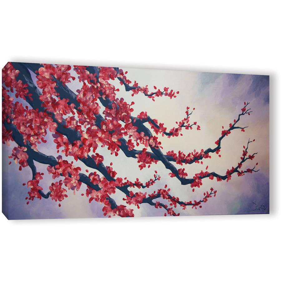 "Shiela Gosselin ""Red Cherry Blossom"" Gallery-Wrapped Canvas Art"