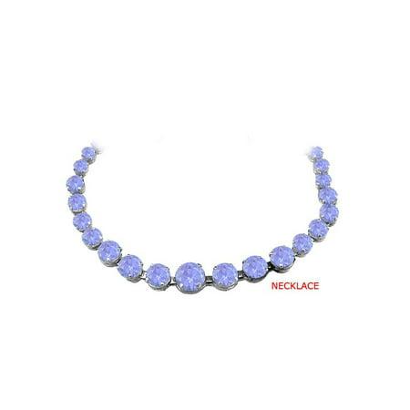Newest Tanzanite Graduated Necklace in 14K White Gold - image 2 de 2