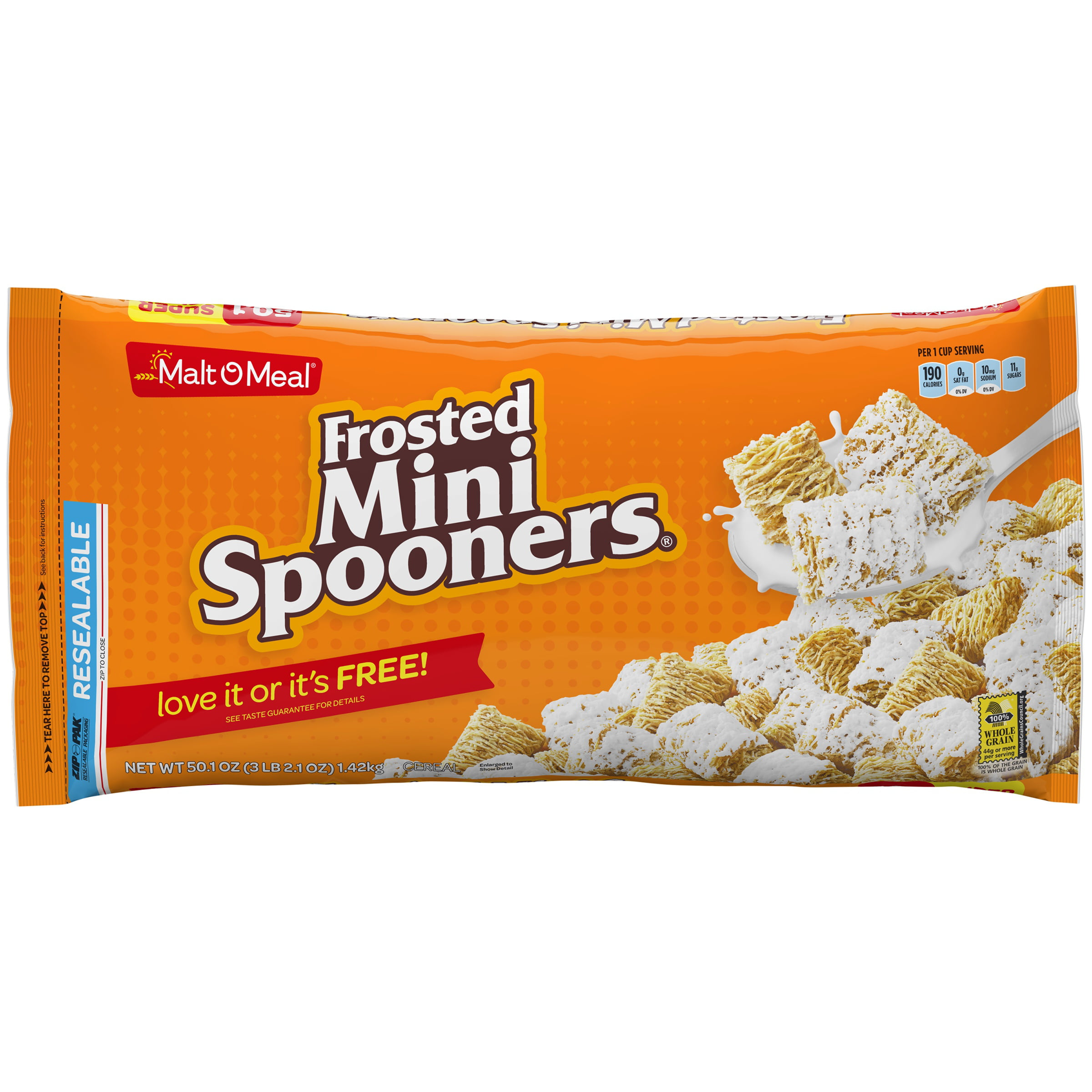 Malt-O-Meal Breakfast Cereal, Frosted Mini Spooners, 50.1
