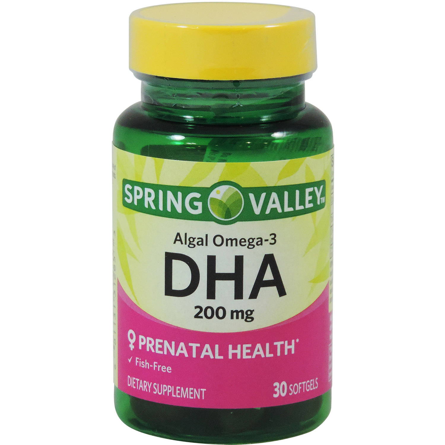 Spring Valley Algal Omega-3 DHA, 200mg, 30ct