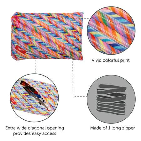ZIPIT Colorz Pencil Case for Girls, Large Capacity Pouch