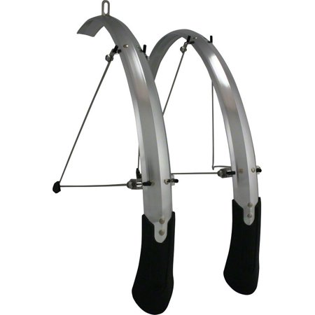 Planet Bike Cascadia Aluminum ALX Hybrid Fender Set: 42mm, Silver ()