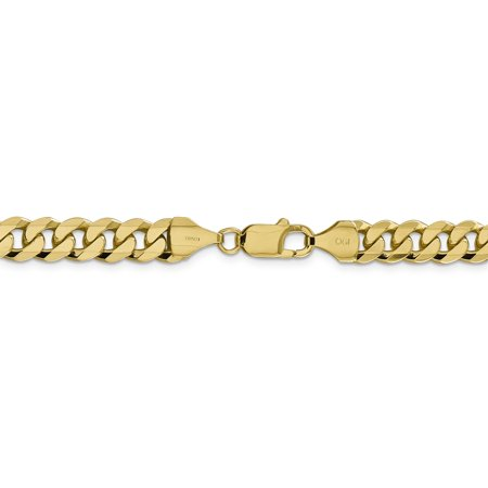 14K Yellow Gold 8.75mm Beveled Curb Chain - image 4 of 4