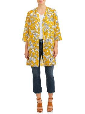 Women's Floral Duster Kimono