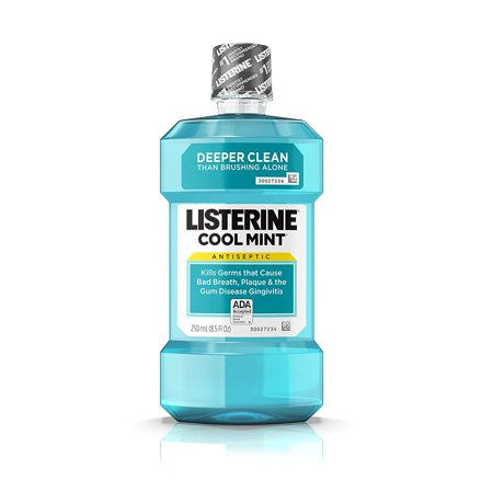 Antiseptic Mouthwash, Cool Mint - 250 ml, Kills germs that cause bad breath, plaque, and gingivitis By (Best Mouthwash For Gingivitis And Bad Breath)