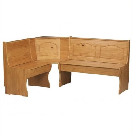 Kingfisher Lane Kitchen Dining Nook Corner Bench in Natural ()