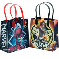 """Captain Marvel 12 Party Favor Small Goodie Bags 6"""""""