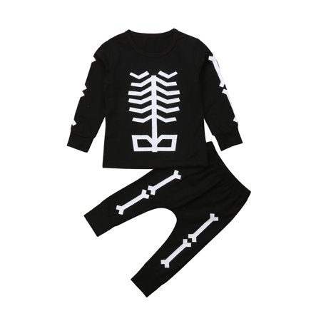 2PC Baby Boy Girl Spring Winter Clothes Outfit Infant Kid Shirt Top+Pant Clothing Suits Black - Winter Clothes Girls