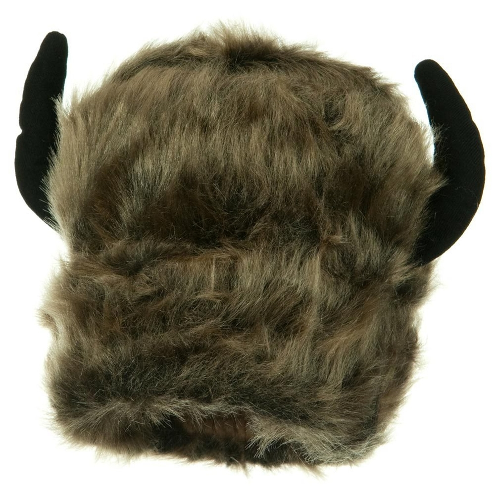 Brown Lodge Hat with Horns