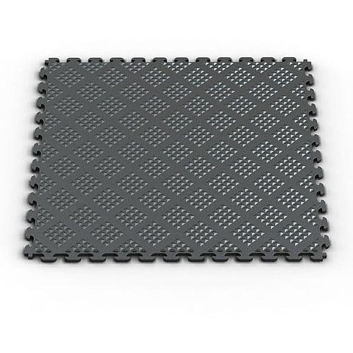 Norsk NSMPRD6MG Raised Diamond Pattern PVC Floor Tiles, 13.95-Square Feet, Metallic Graphite, 6-Pack