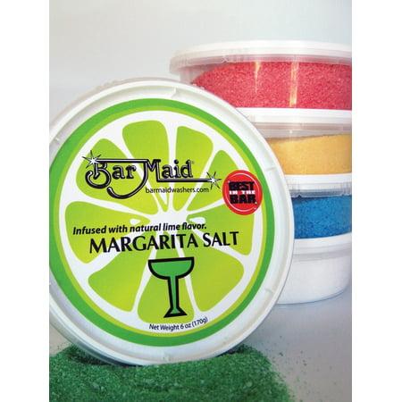 (Price/Pack)Bar Maid CR-102 Margarita Salt White 6 Ounce 1-12 Count (Margarita Salt)