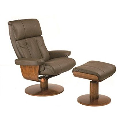 Chair Norfolk Massaging Air Lumbar in Dark Brown Top Grain Leather Swivel, Recliner with Ottoman By Mac Motion Chairs [Istilo280216]