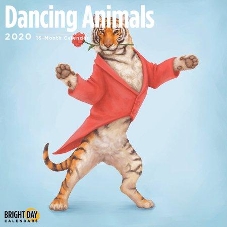 2020 Dancing Animals 16 Month 12 x 12 Wall Calendar Cute Art Kids Funny Children ()