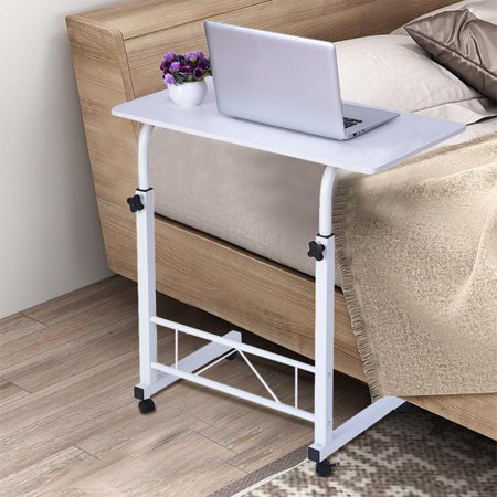 Home office chair can lift mobile computer table bedside table 80cm×40cm white