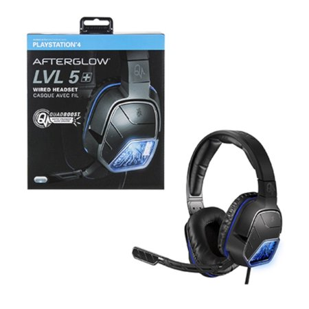 Performance Designed 051 033 X Afterglow Lvl 5 Plus Stereo Headset For Ps4 Sony Playstation 4