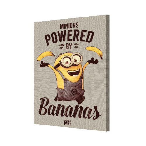 Pyramid America Minions 'Powered by Bananas' Graphic Art on Canvas