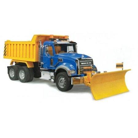 Bruder Toys MACK Granite Dump Truck with Snow Plow Blade - Mack Truck Hats