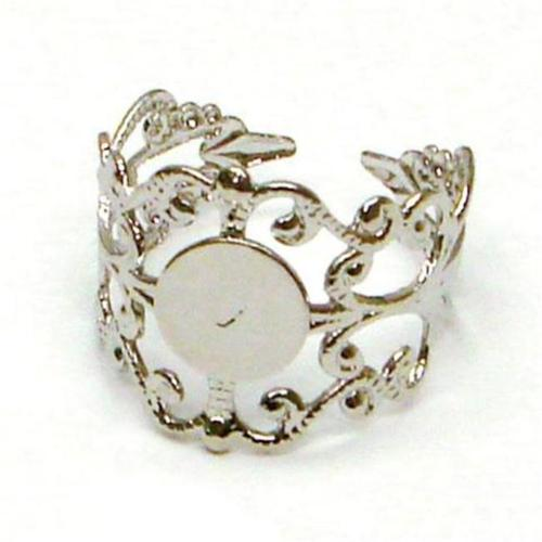Bold 500261 Silver Plated Filigree Adjustable Rings