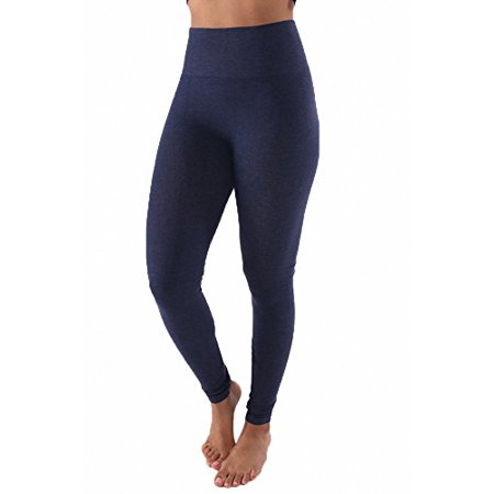 best service harmonious colors diversified in packaging Sassy Apparel Womens Basic Solid Color Cotton Workout Leggings  (Small/Medium, Navy)