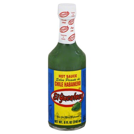El Yucateco Chile Habanero Hot Sauce, 8.0 FL OZ](Chili Hat)