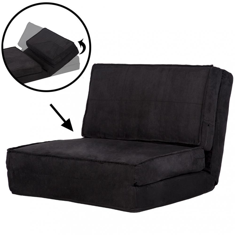 Fold Down Chair Flip Out Lounger Convertible Sleeper Bed Couch Game Guest