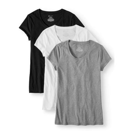 No Boundaries Juniors' Short Sleeve T-Shirt 3-Pack Value Bundle