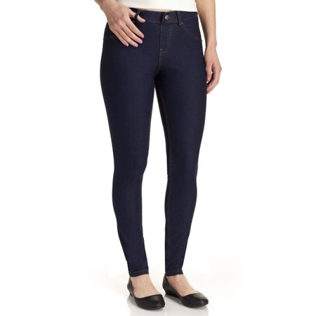 Hue Women's Essential Denim Leggings, Deep Indigo Wash, Medium Jersey Tights Leggings