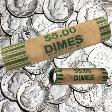 72 Rolls Preformed Coins Dimes Wrappers Paper Tubes 10 Cent Shotgun Counter Bank