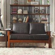 Tribecca Home  Hills Mission-Style Oak Loveseat