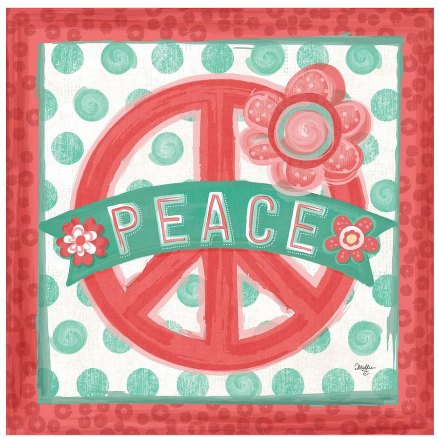 Peace by Eazl Canvas Poster