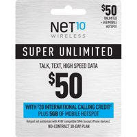 Net10 $50 Unlimited 30-Day Plan