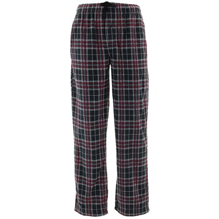 Jonathan K Men's Black Red Plaid Fleece Pajama Pants (Plaid Pants Mens)