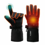 Aiper Heated Gloves for Women Men, Dual Figner Touchscreen Texting Hand Warmer, Anti-slip Heated Gloves for Skiing Fishing Hiking Motorcycle.(XL)