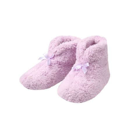 MSP Imports Women's Chenille Slippers - Soft Ultra-Plush Booties, Pink or Blue (Lavender Spa Booties)