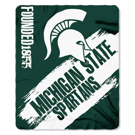 Michigan State Spartans Gift Box (Northwest Michigan State Spartans NCAA Light Weight Fleace Blanket (Paint Series) (50inx60in))
