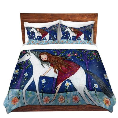 DiaNoche Designs Horse Dreamer Duvet Cover Set