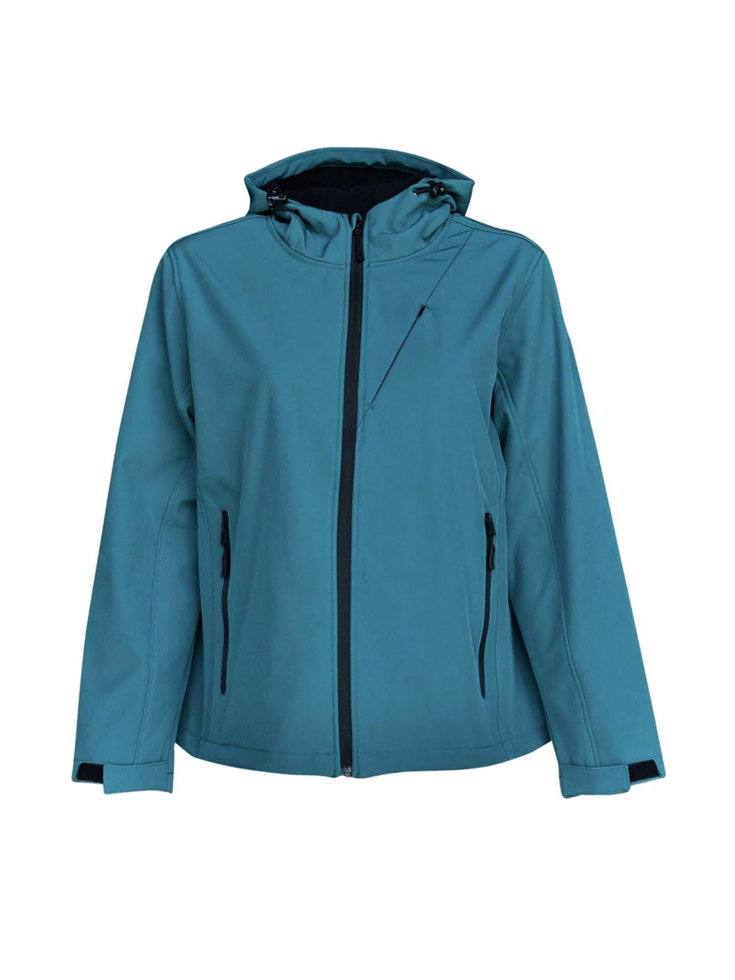 Pulse Women's Plus Size Hooded Soft Shell Jacket 1X-6X
